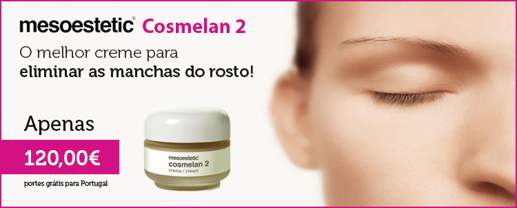 Elimine as manchas do rosto. Compre o mesoestetic Cosmelan 2 por apenas 120,00 €!