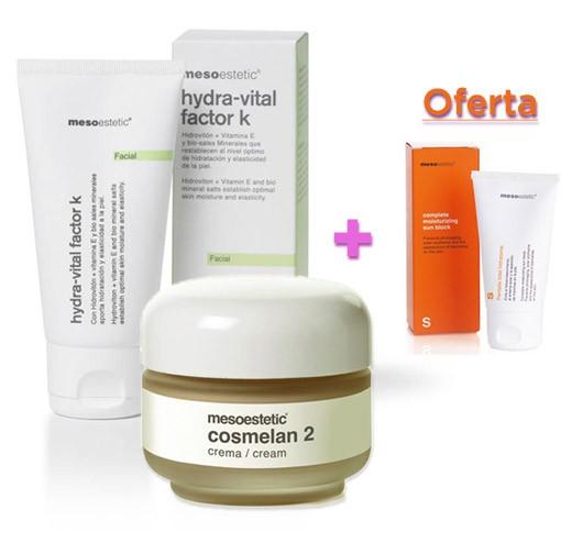 Pacote de produtos para eliminar manchas no rosto